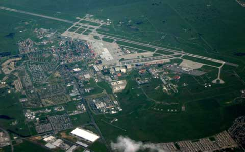 Aerial Travis Air Force Base From Sky