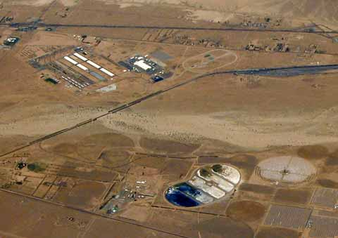 Barstow Marine Corps Logistics view from sky