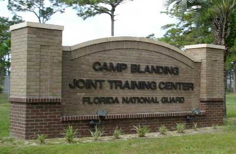 CAMP BLANDING FL Front sign