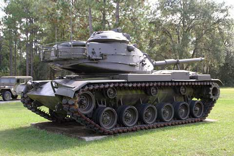 Camp Blanding Tank at front yard