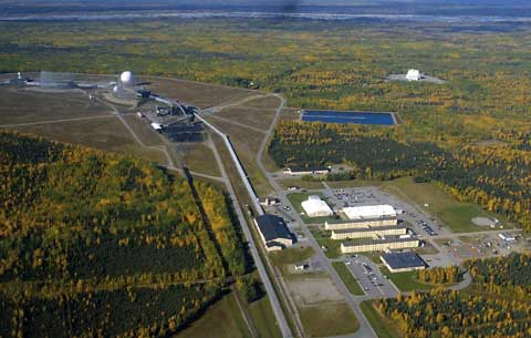 Clear Air Force Station Alaska from sky