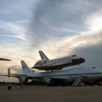 Columbus Air Force Base - Space Shuttle Placed on plane