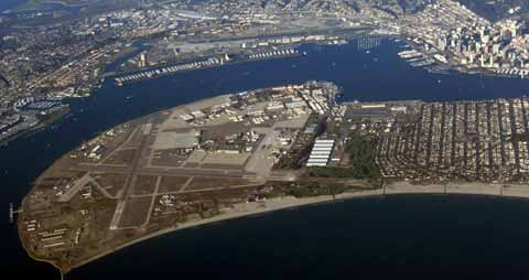 NAVY NORTH ISLAND NAVAL AIR STATION From Plane