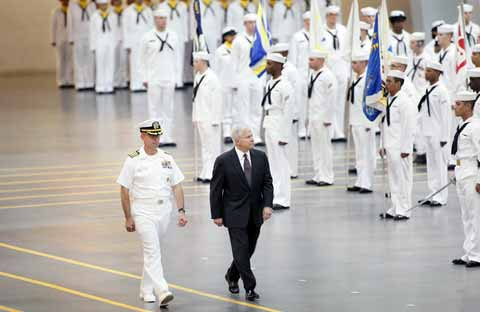 Naval Station Great Lakes Soldiers parade