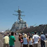 Boat placed for public demonstration at Naval Weapons Station Seal Beach