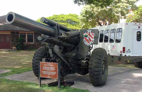 Old school gun at Schofield Barracks