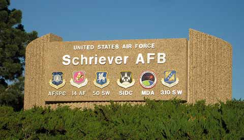 Schriever AFB Front Sign, Banner
