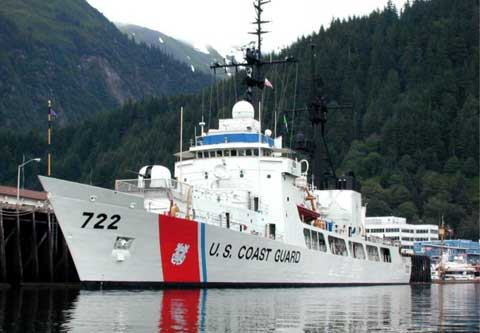 US Coast Guard Boat Juneau Alaska