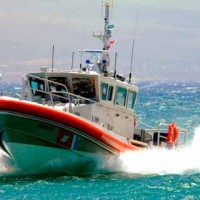 USCG Station Maui Boat in full speed
