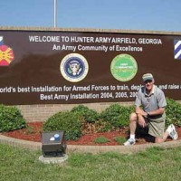 Main entrance sign at Hunter Army Airfield