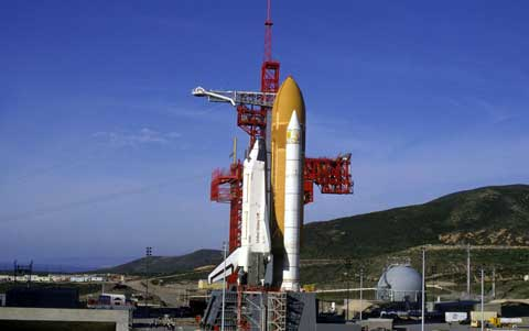 Vandenberg Air Force Base Rocket Before Launch