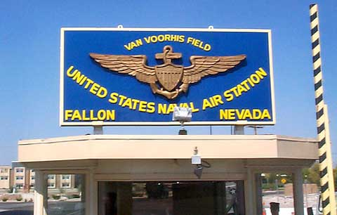 Naval Air Station Fallon Main Sign