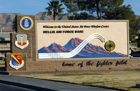 Sign of Nellis AFB
