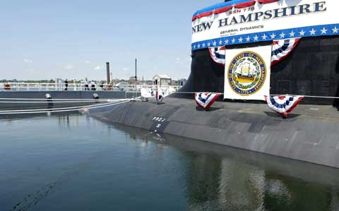 Submarine at Portsmouth Naval Shipyard