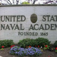 US Naval Academy front sign