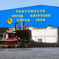 Main sign at Portsmouth Naval Shipyard