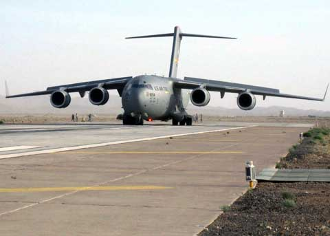 First c-17 lands at Shindand Airbase