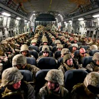 Soldiers in way to Camp Leatherneck