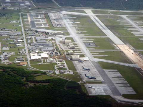 Andersen Air Force Base Areal View