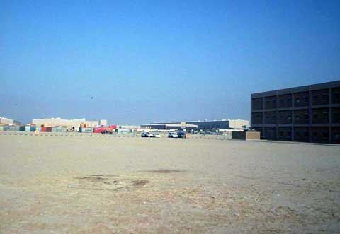Barracks at Camp Arifjan base