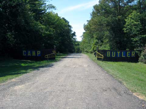 Main gate and entrance of Camp Butler