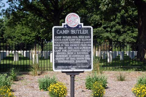 Sign of Camp Butler