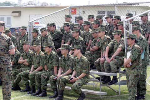Camp S D Butler soldiers