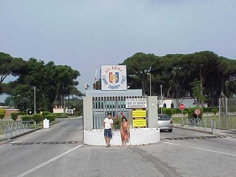 Main gate at Camp Darby