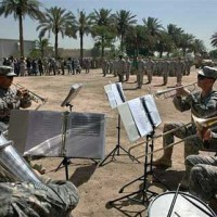 Concert at Forward Operating Base Abu Ghraib