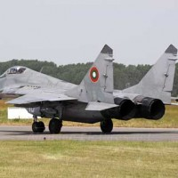 F15 lands at Graf Ignatievo Air Base