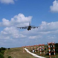Plane lands at Mcas Futenma