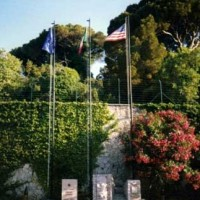 Flags at NSA Gaeta base