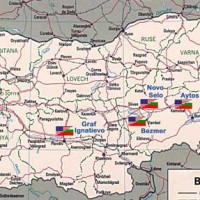 Map of US Bulgarian bases