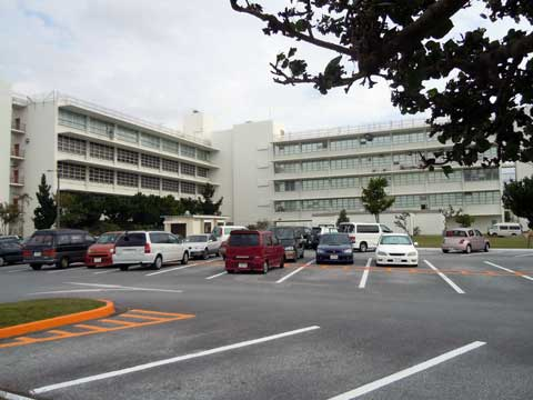 Areal view of US naval hospital Okinawa