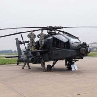 soldiers on helicopter at USAG Ansbach