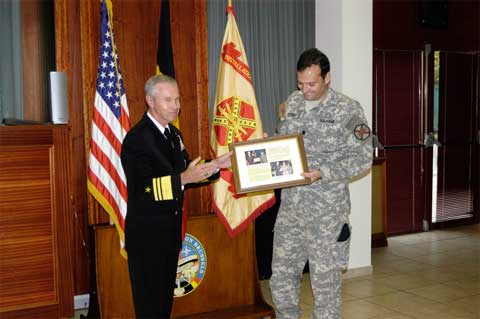 Soldier gets diploma at US Army Garrison Brussels