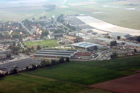 Areal view of Wiesbaden Army Airfield