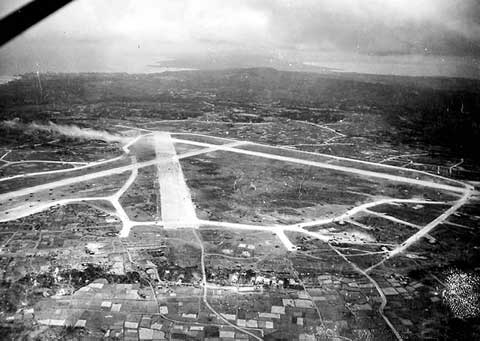 overview of Yontan Airfield during world war