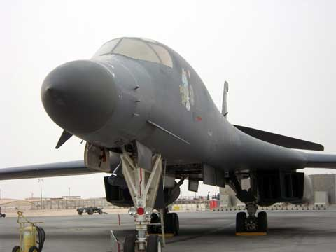 Plane at Al Udeid Air Base