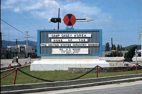 Main sign of Camp Casey