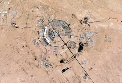King Khalid Air Base Military city areal view