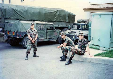 Soldiers at Camp Hovey in South Korea