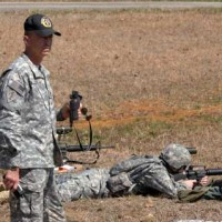 Soldier practice at Arnold Air Force Base