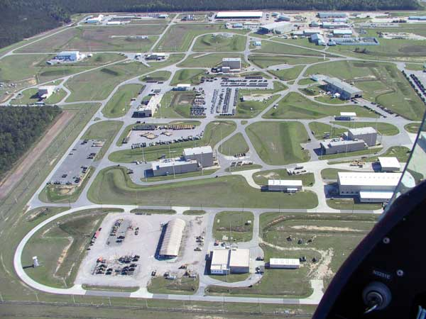 Naval Weapons Station Charleston Areal View