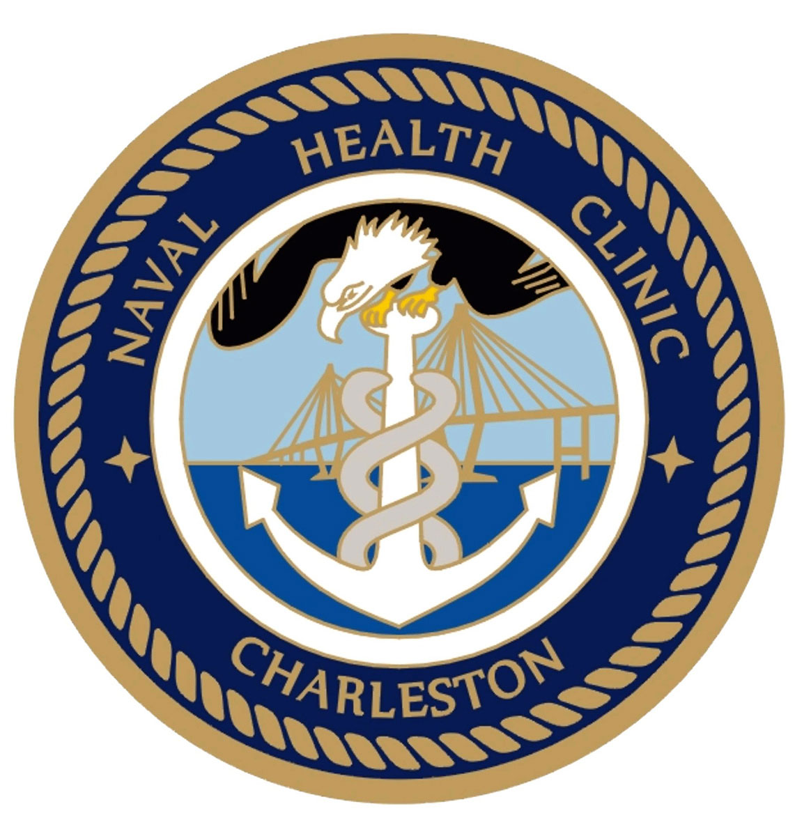 Naval Health Clinic Charleston sign