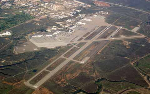 View from sky to Air Station Miramar