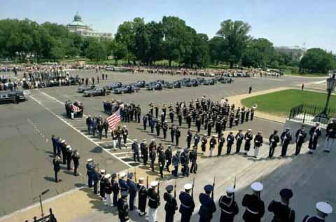 National guard parade at Andrews Air Force Base