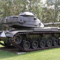 Camp Blanding Tank at front yard
