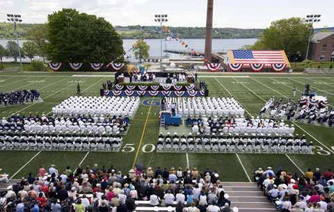 Coast Guard Academy Celebration at Stadium
