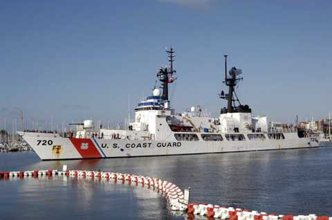 Coast Guard Boat at R&D Center